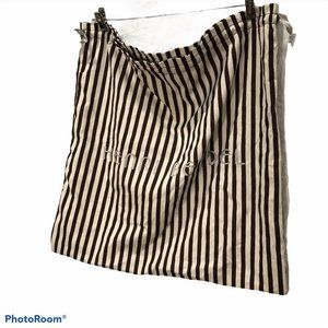 Henri Bendel Quintessential brown stripe LG dust b